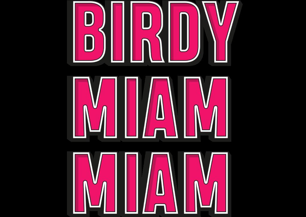 LOGO BIRDY MIAM MIAM